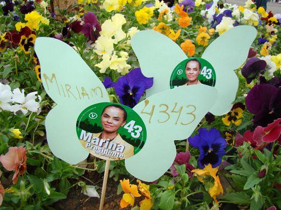 Campanha Miriam 4343 faz borboletaço em Rio do Sul