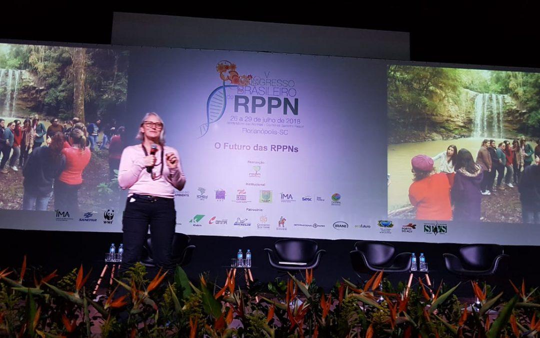 Miriam Prochnow esteve no V Congresso Brasileiro de RPPNs