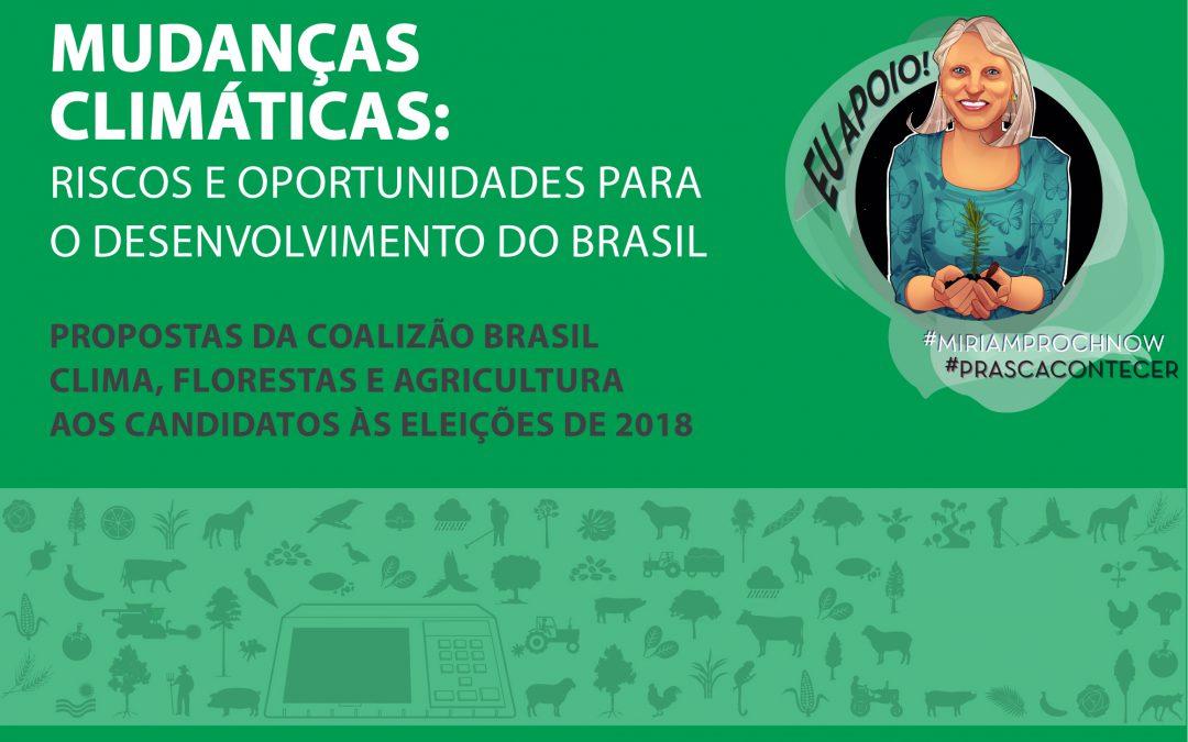 Candidata homologada pela Rede ao Senado apoia e divulga propostas da Coalizão Brasil aos candidatos às eleições 2018