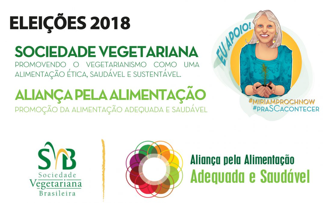 Miriam Prochnow firma compromisso pela alimentação saudável e vegetariana
