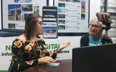 Miriam Prochnow, candidata pela Rede ao Senado é entrevistada pelo Notisul