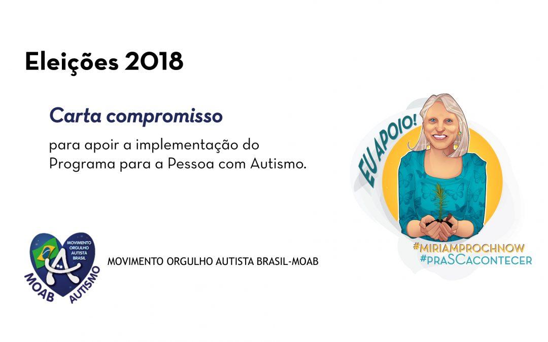 Miriam firma compromisso com o MOAB –  Movimento Orgulho Autista Brasil