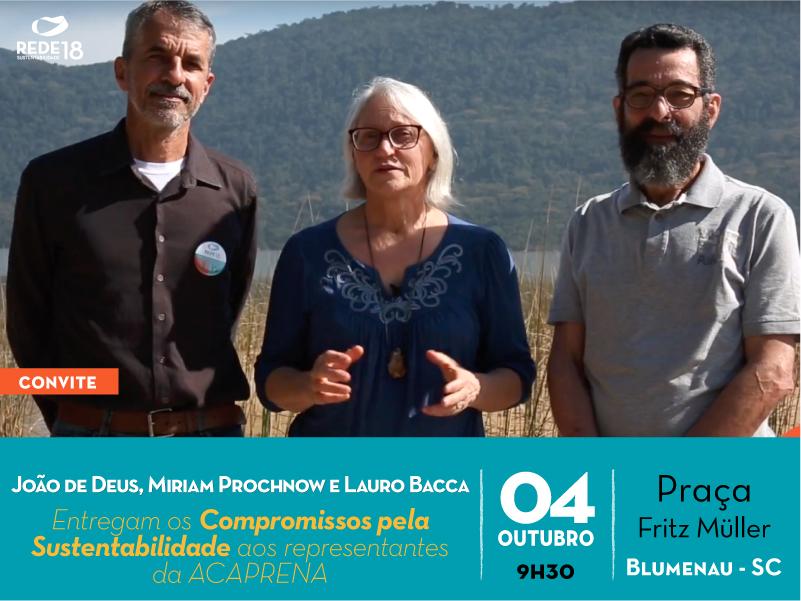 Candidatos ambientalistas firmam  propostas em Blumenau nesta quinta (4/10)