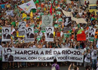 Marcha a Ré da Rio+20. Foto: acervo pessoal.