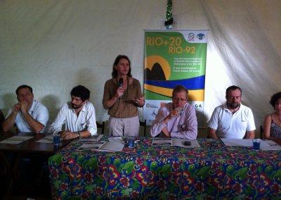 Reunião na Rio+20. Foto: acervo pessoal.